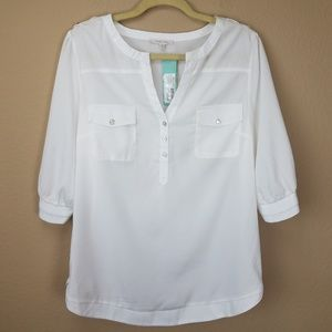 41 Hawthorn popover white top sz XL